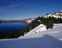 Crater Lake Or 1996 348 Snow